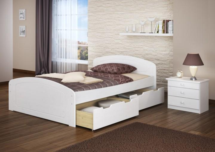 funktionsbett 160x200 doppelbett 3 stauk sten rollrost seniorenbett massivholz wei w. Black Bedroom Furniture Sets. Home Design Ideas