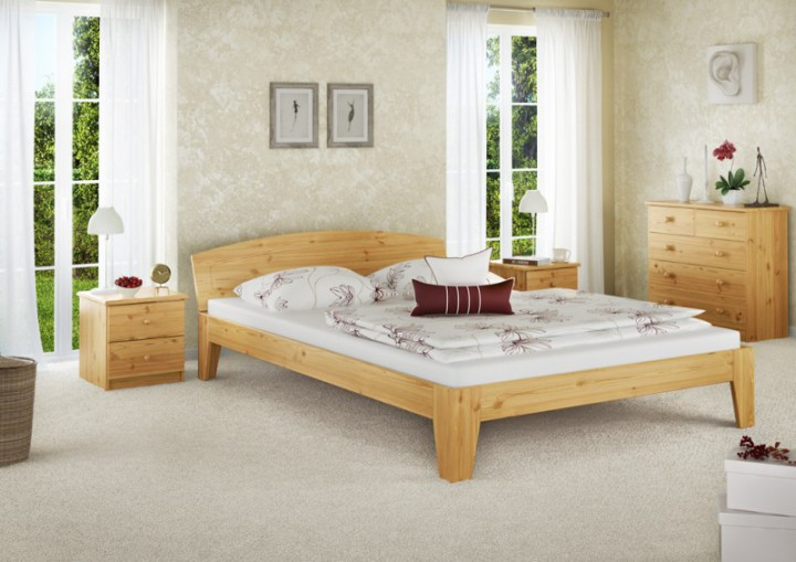 bettgestell kiefer natur massivholzbett doppelbett 140x200 futonbett ohne zubeh r or. Black Bedroom Furniture Sets. Home Design Ideas