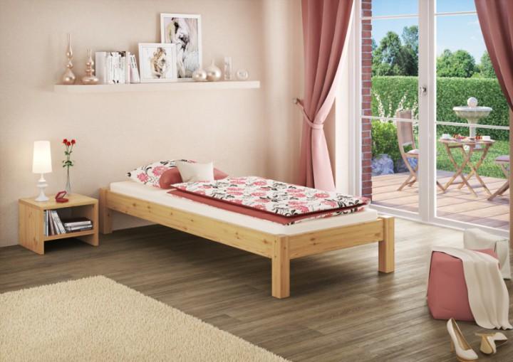 futonbett ohne kopfteil kiefer massiv 90x200 bettgestell ohne, Hause deko