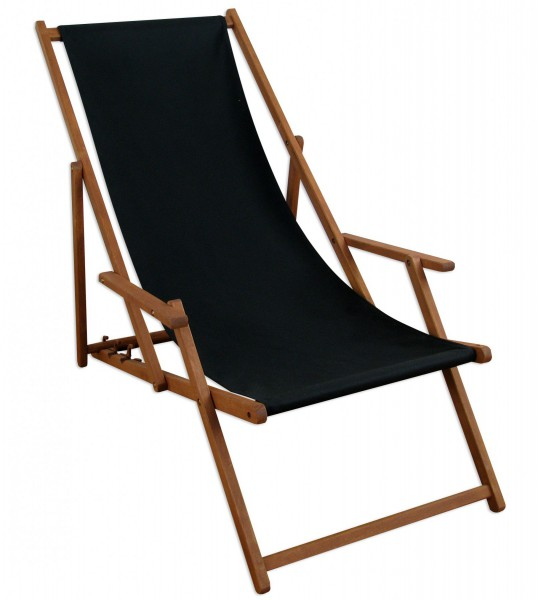 liegestuhl schwarz sonnenliege gartenliege holz deckchair. Black Bedroom Furniture Sets. Home Design Ideas