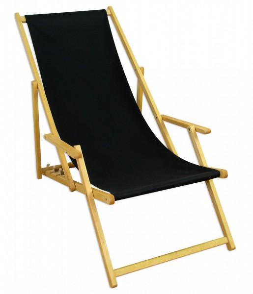 liegestuhl gartenliege schwarz sonnenliege strandliege holz deckchair gartenm bel buche 10 305 n. Black Bedroom Furniture Sets. Home Design Ideas