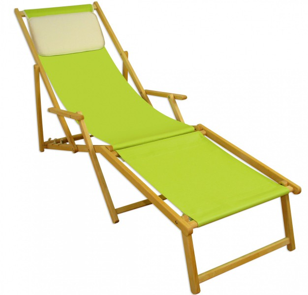 liegestuhl pistazie fu ablage kissen deckchair klappbar. Black Bedroom Furniture Sets. Home Design Ideas