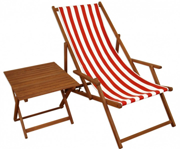 liegestuhl rot wei gartenstuhl tisch deckchair buche dunkel strandstuhl klappbar 10 314 t. Black Bedroom Furniture Sets. Home Design Ideas