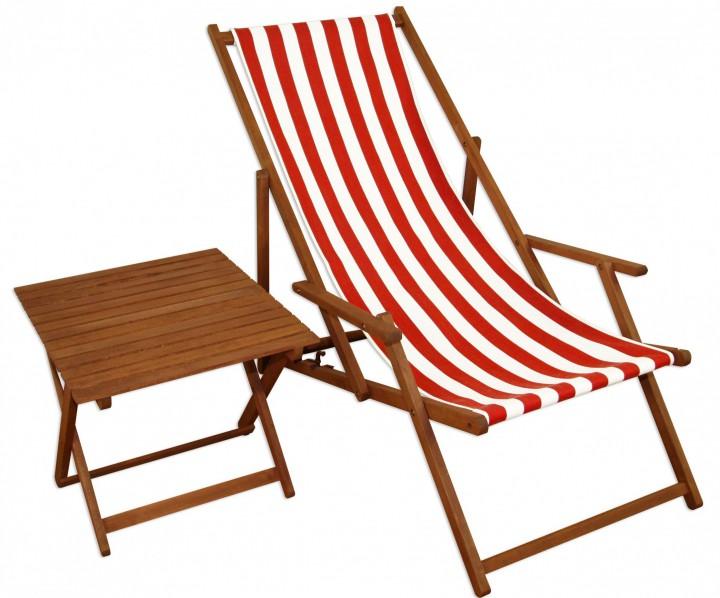 liegestuhl rot wei gartenstuhl tisch deckchair buche. Black Bedroom Furniture Sets. Home Design Ideas