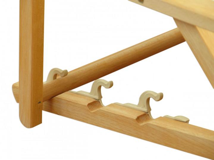 Sonnenliege klappbar holz  Liegestuhl gelb-weiß Fußablage Kissen Deckchair klappbar ...