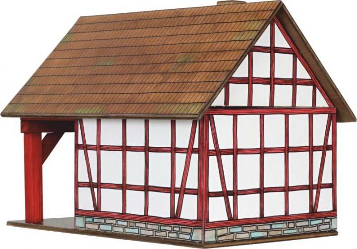 holzbaukasten fachwerk schmiede holzbausteine modellhaus holzbaukasten spielzeug. Black Bedroom Furniture Sets. Home Design Ideas