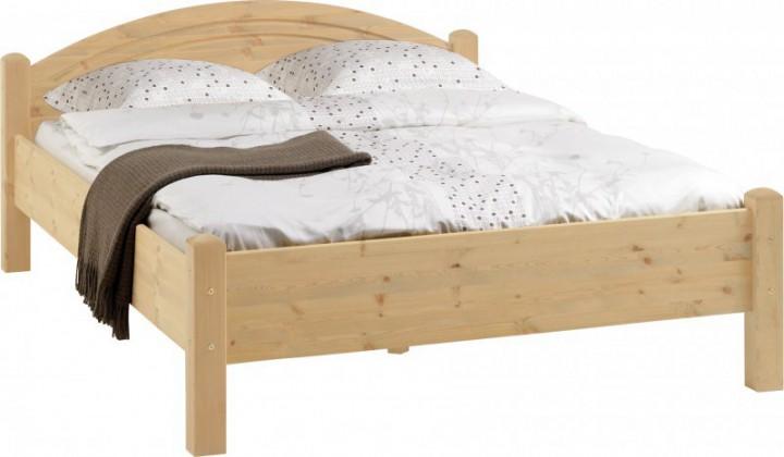 doppelbett 180x200 cm kiefer massiv mit rollroste einzel doppelbetten betten. Black Bedroom Furniture Sets. Home Design Ideas