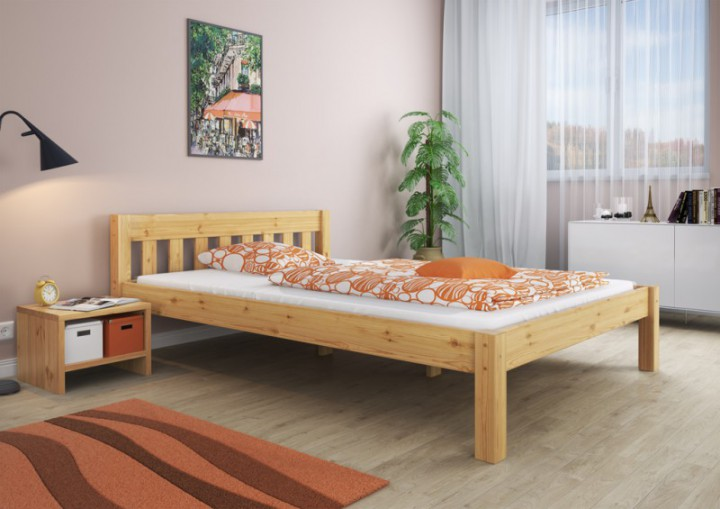 doppelbett ehebett 180x200 massivholz kiefer natur. Black Bedroom Furniture Sets. Home Design Ideas