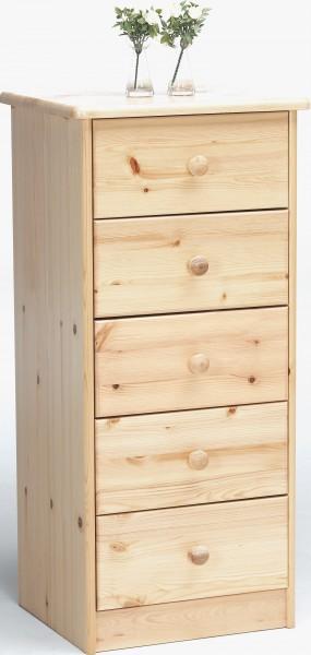 kommode kiefer natur 5 schubladen kommoden. Black Bedroom Furniture Sets. Home Design Ideas