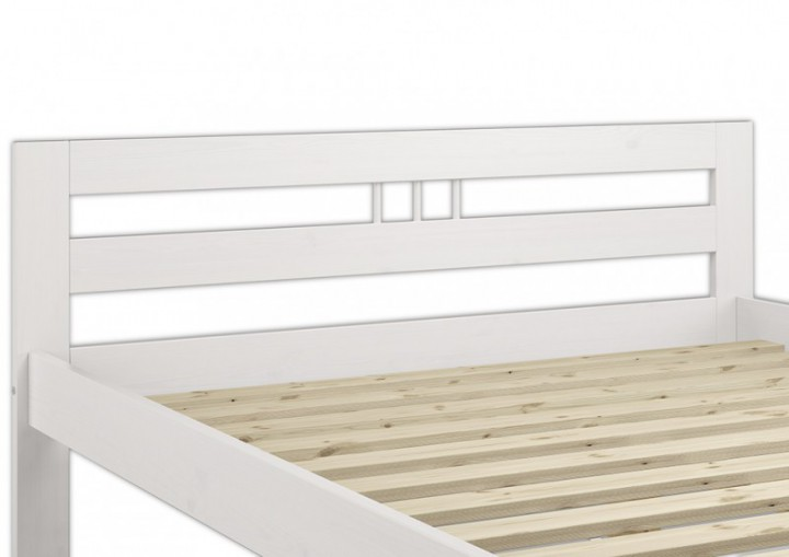 kieferbett jugendbett wei 80x200 massivholz bettgestell einzelbett ohne rollrost w or. Black Bedroom Furniture Sets. Home Design Ideas