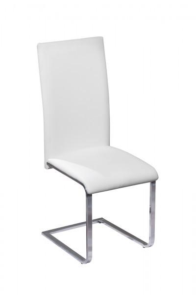 Stuhl Montana Freischwinger Weiß Chrom Schwingstuhl 99.30200840