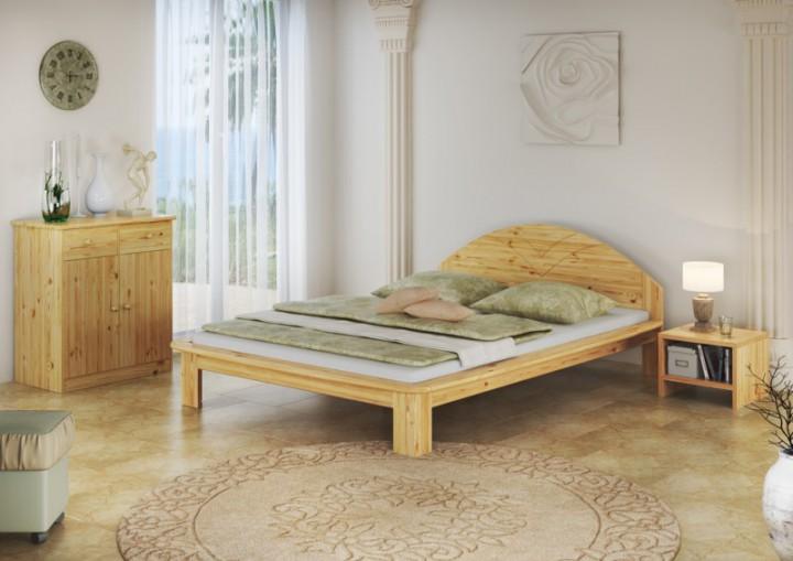 franz sisches bett doppelbett futonbett kiefer massiv bettgestell 140x200 ohne zubeh r. Black Bedroom Furniture Sets. Home Design Ideas