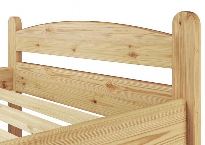 einzelbett jugendbett 90x200 kieferbett natur massivholz futonbett rollrost. Black Bedroom Furniture Sets. Home Design Ideas
