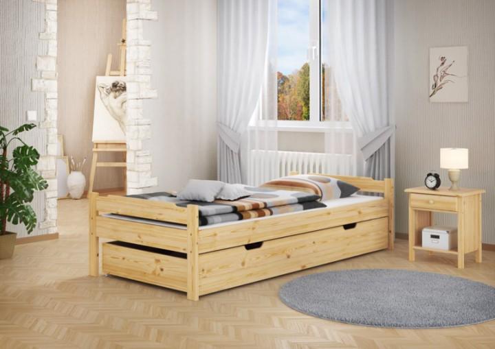 massivholzbett kiefer natur 80x200 jugendbett einzelbett. Black Bedroom Furniture Sets. Home Design Ideas