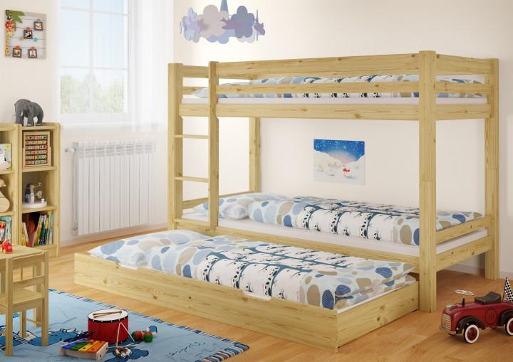 etagenbett stockbett kiefer massiv matratzen g stebettkasten 90x200 kinderbett m. Black Bedroom Furniture Sets. Home Design Ideas