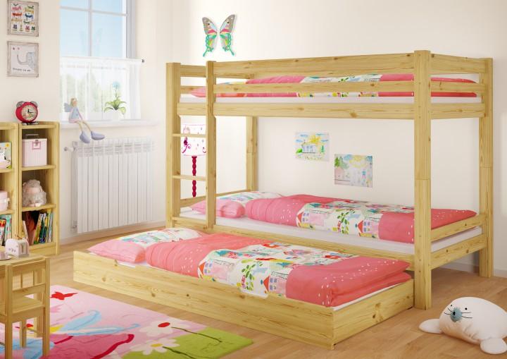 etagenbett kinderzimmer stockbett massiv kiefer rollrost g stebettkasten 90x200 bett. Black Bedroom Furniture Sets. Home Design Ideas
