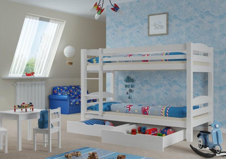 kinder stockbett perfect cheap hochbett mit rutsche weiss lackiertes kiefernholz dass inklusive. Black Bedroom Furniture Sets. Home Design Ideas