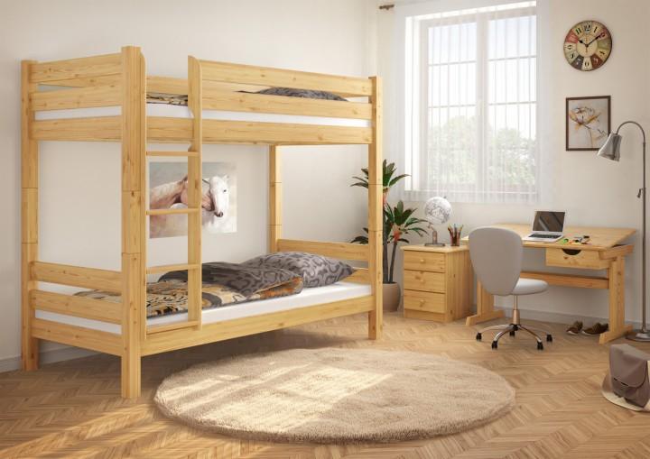 teilbares etagenbett massivholz kiefer 90x200 hochbett stockbett doppelbett 100 or. Black Bedroom Furniture Sets. Home Design Ideas