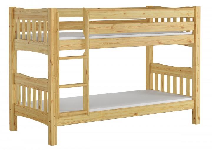 etagenbett hohes bett kiefer massiv 90x200 cm mit 2 rollroste und 2 matratzen ni70 m. Black Bedroom Furniture Sets. Home Design Ideas