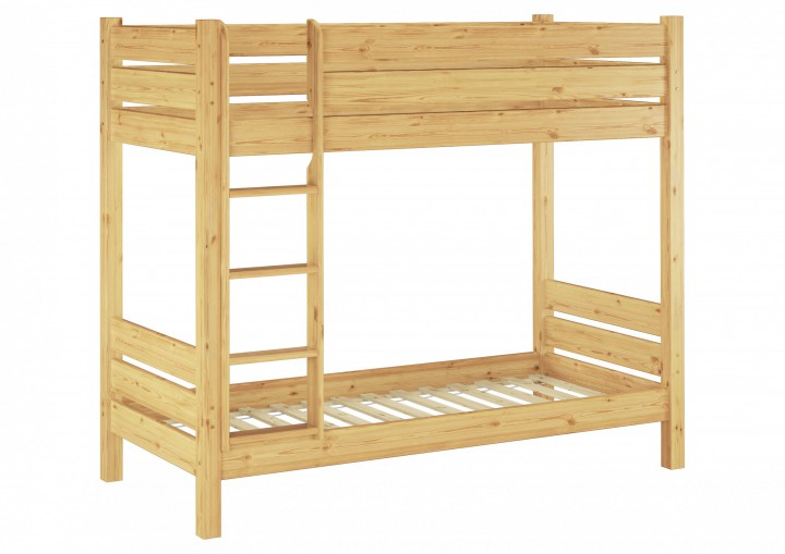 etagenbett f r erwachsene kiefer 90x200 rollrosten nische 100 massivholz stockbett. Black Bedroom Furniture Sets. Home Design Ideas