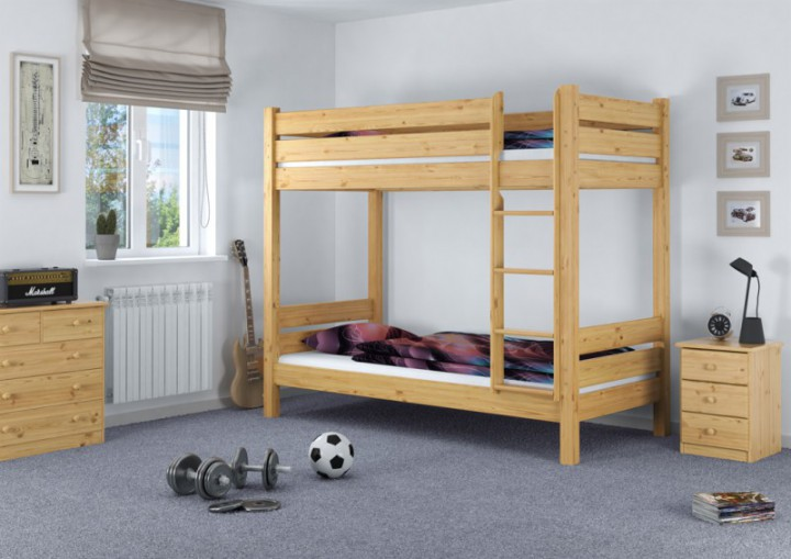 etagenbett extra stabil 90x220 ueberlaenge nische 100 cm mit 2 rollroste. Black Bedroom Furniture Sets. Home Design Ideas