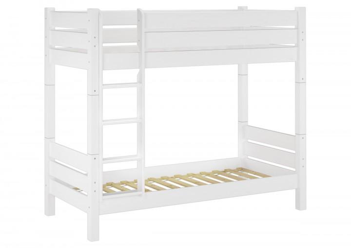 erwachsenen etagenbett wei 90x220 hochbett teilbar nische 100 2 rollroste w t100. Black Bedroom Furniture Sets. Home Design Ideas