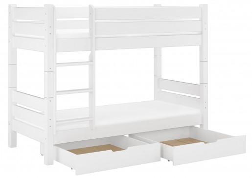 etagenbett f r erwachsene wei 90x200 teilbar rollrost. Black Bedroom Furniture Sets. Home Design Ideas
