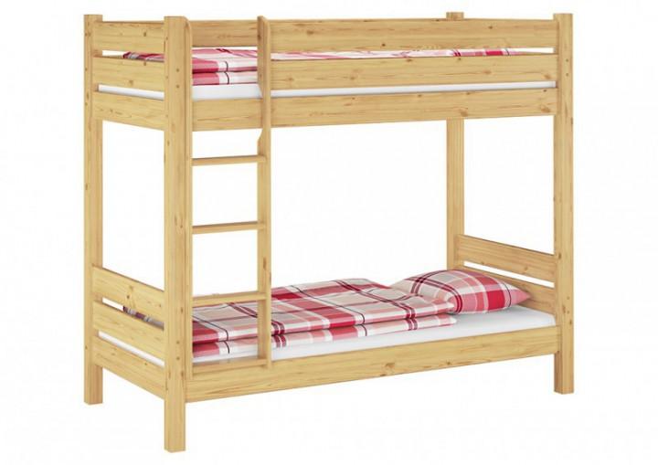 etagenbett in berl nge 100x220 stockbett stabil mit matratzen kiefer natur m. Black Bedroom Furniture Sets. Home Design Ideas
