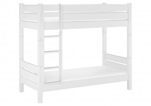 etagenbett f r erwachsene wei 100x200 stockbett teilbar mit rollrost matratzen w t100. Black Bedroom Furniture Sets. Home Design Ideas