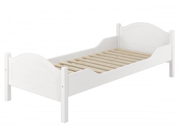 einzelbett kiefer wei 90x200 futonbett jugenbett singlebett mit federholzrahmen w fv. Black Bedroom Furniture Sets. Home Design Ideas