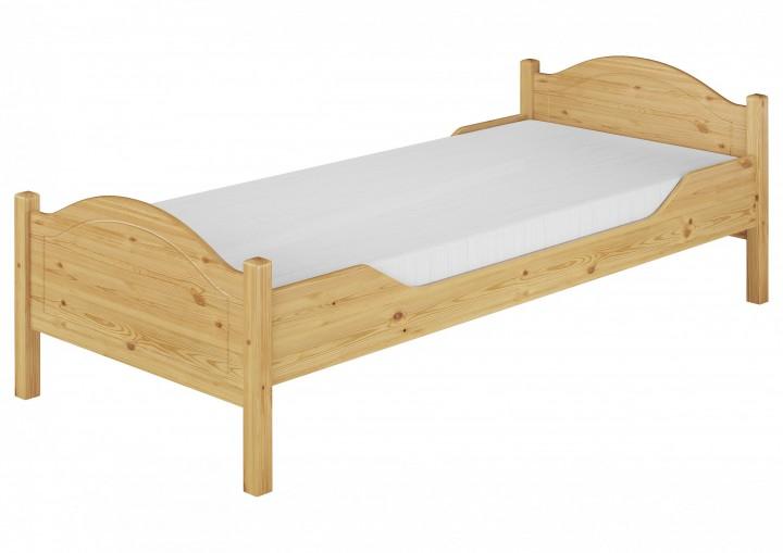 einzelbett kiefer natur 100x200 massivholzbett jugendbett rollrost matratze m. Black Bedroom Furniture Sets. Home Design Ideas