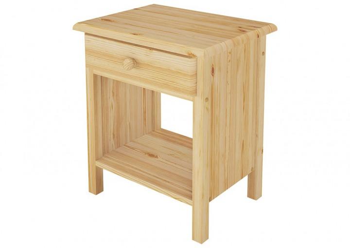 massivholz bett kiefer natur 100x200 einzelbett rollrost matratze nachttisch m k0. Black Bedroom Furniture Sets. Home Design Ideas