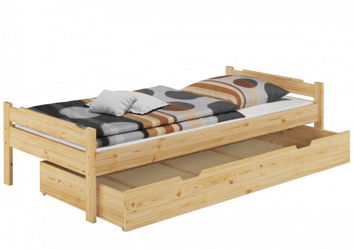 Bett 80x200 einzelbett jugenbett kiefer natur rollrost for Garderobe 80 x 200