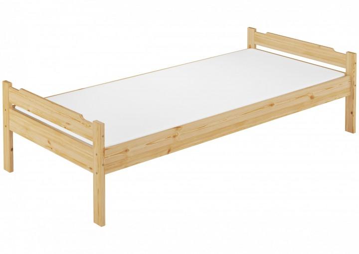 einzelbett kiefer massiv 90x200 holzbett natur jugendbett rollrost matratze m. Black Bedroom Furniture Sets. Home Design Ideas