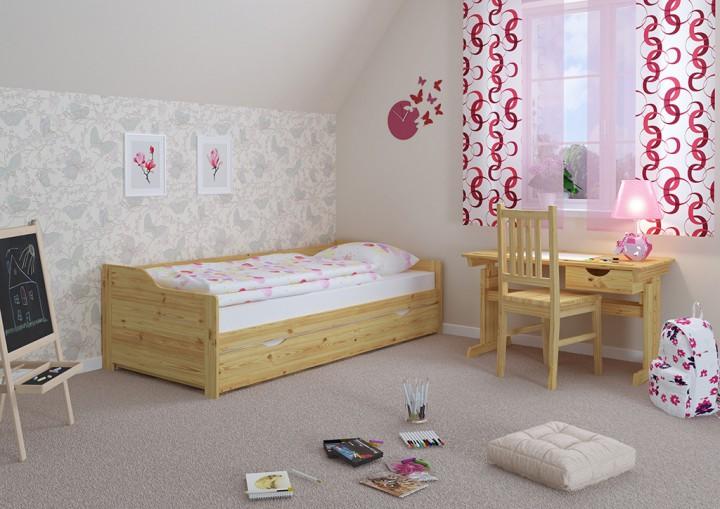 sofabett zweiter schlafplatz bettgestell 90x200 einzelbett. Black Bedroom Furniture Sets. Home Design Ideas