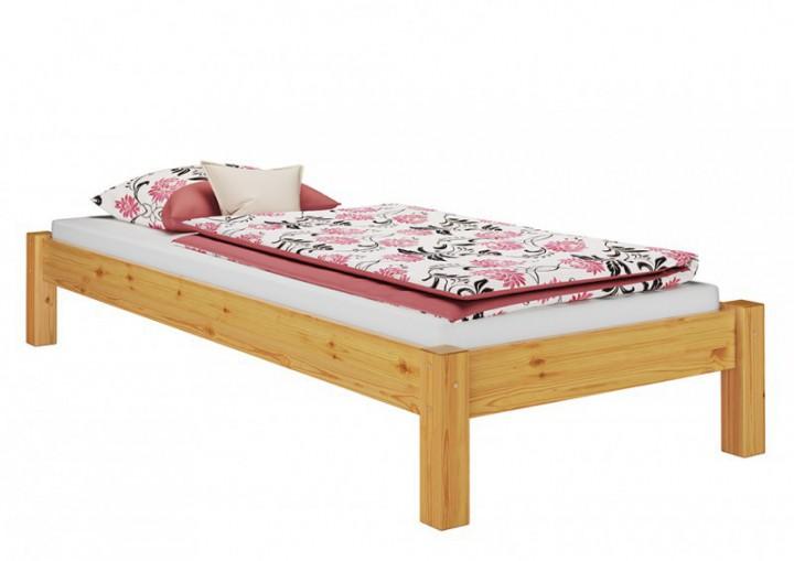 bettgestell natur 80x200 einzelbett futonbett kiefer massiv holzbett ohne rollrost or. Black Bedroom Furniture Sets. Home Design Ideas