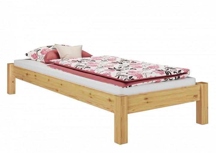 einzelbett kiefer natur 100x200 massivholzbett futonbett, Hause deko