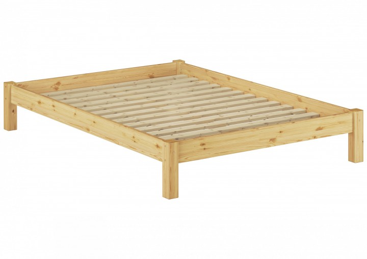 bettgestell kiefer natur einzelbett 120x200 massivholzbettgestell mit matratze m. Black Bedroom Furniture Sets. Home Design Ideas