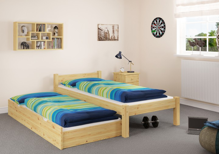 futonbett jugendbett 90x200 einzelbett kiefer natur. Black Bedroom Furniture Sets. Home Design Ideas