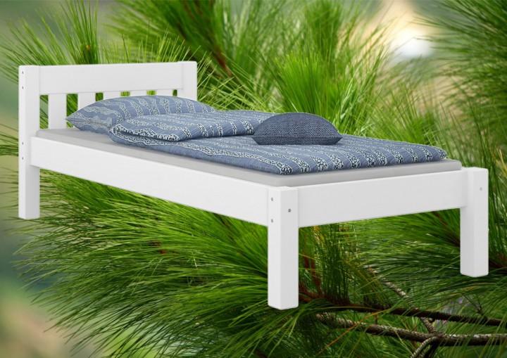 jugendbett kiefer wei 90x200 massivholzbett futonbett. Black Bedroom Furniture Sets. Home Design Ideas