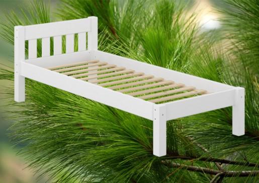 futonbett wei einzelbett 120x200 kieferbett massivholz. Black Bedroom Furniture Sets. Home Design Ideas