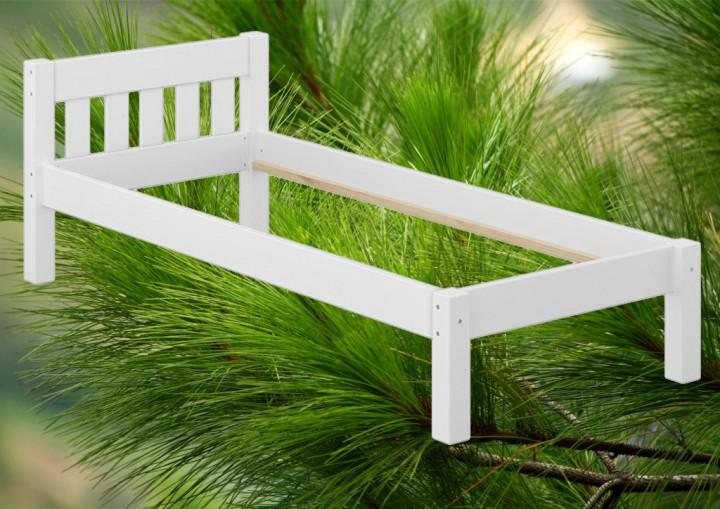 einzelbett massivholzbett kiefer wei 120x200 jugendbett futonbett rollrost matratze w. Black Bedroom Furniture Sets. Home Design Ideas