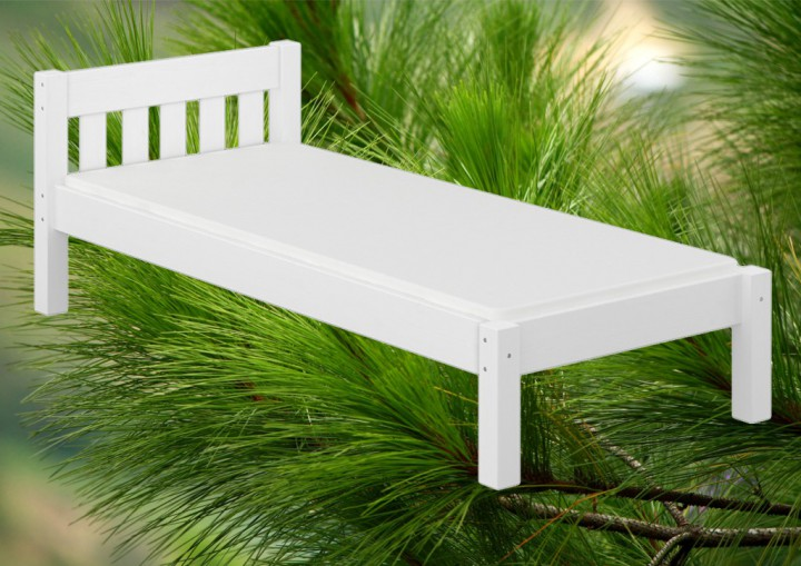 einzelbett massivholzbett kiefer wei 120x200 jugendbett. Black Bedroom Furniture Sets. Home Design Ideas