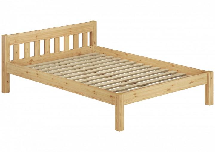 doppelbett massivholzbett 140x200 kiefer natur futonbett einzelbett rollrost. Black Bedroom Furniture Sets. Home Design Ideas