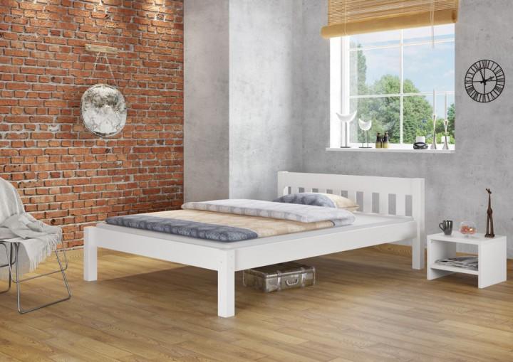 doppelbett ehebett weiß kiefer massivholzbett 160x200 bettgestell, Hause deko