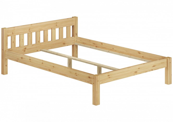 massivholzbett kiefer doppelbett natur 140x200 futonbett bettgestell ohne rollrost or. Black Bedroom Furniture Sets. Home Design Ideas