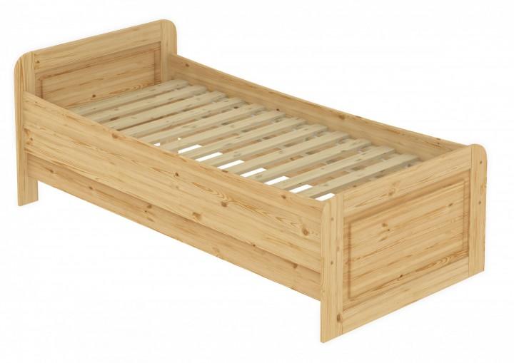 seniorenbett extra hoch 100x200 einzelbett holzbett massivholz kiefer bett mit rollrost. Black Bedroom Furniture Sets. Home Design Ideas