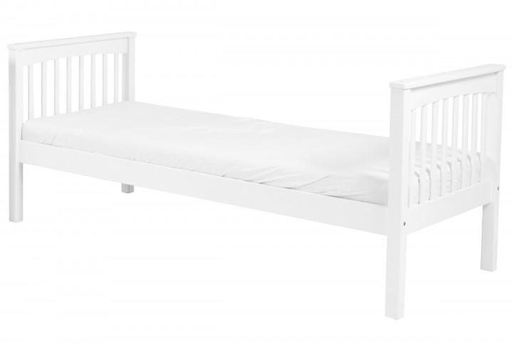 einzelbett buche waschwei massiv 90x200 cm kinderbett jugend und erwachsenen bett w. Black Bedroom Furniture Sets. Home Design Ideas