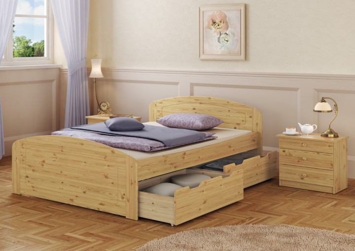 Funktionsbett 160x200  Funktionsbett 160x200 Doppelbett + Bettkasten Federholzrahmen ...