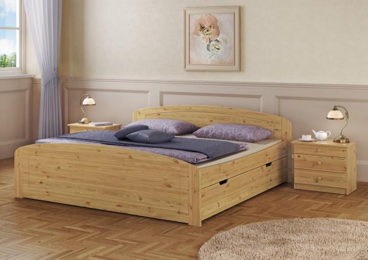 funktionsbett 160x200 doppelbett bettkasten federholzrahmen matratze bettzeug mb fv. Black Bedroom Furniture Sets. Home Design Ideas